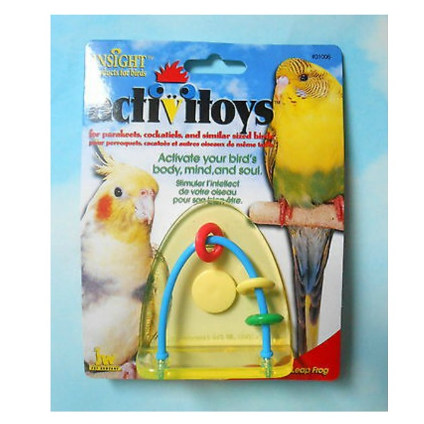 JW Pet Activitoy for Small Birds - Leap Frog Toy