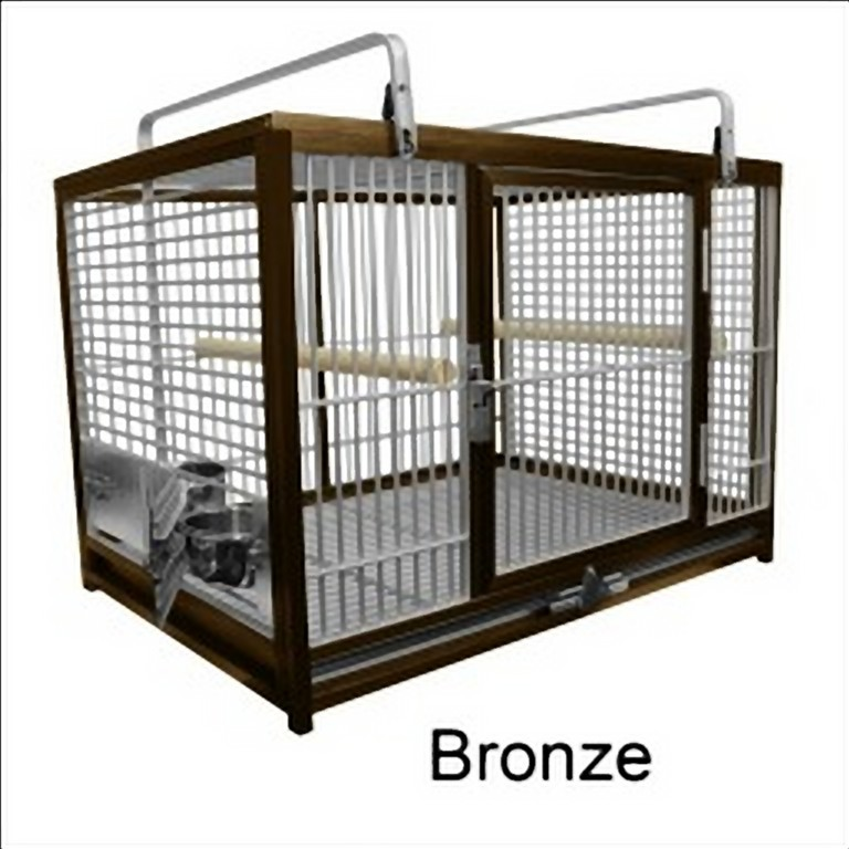 Aluminum Travel Cage for Large Birds by King's Cages Bronze ATM2029