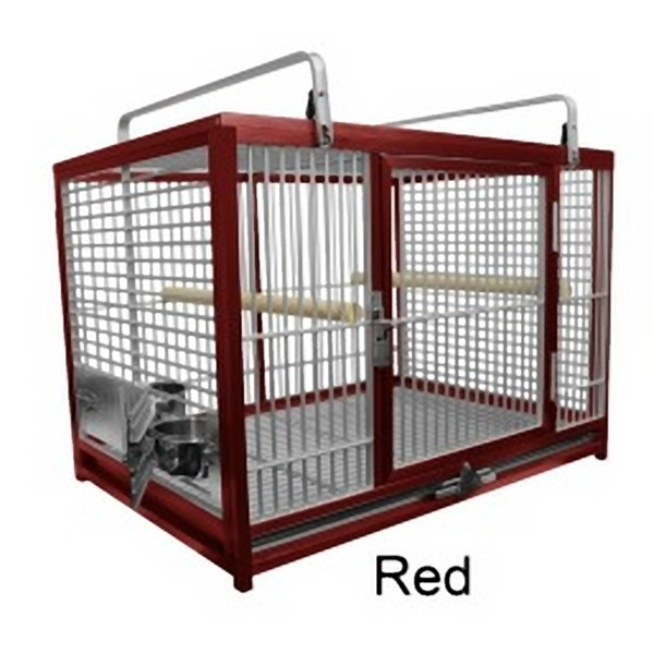 Aluminum Travel Cage for Large Birds by King's Cages Red ATM2029