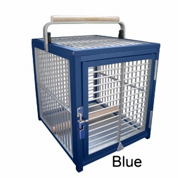 Aluminum Tiny Travel Cage for Small Birds by King's Cages Blue ATT1214
