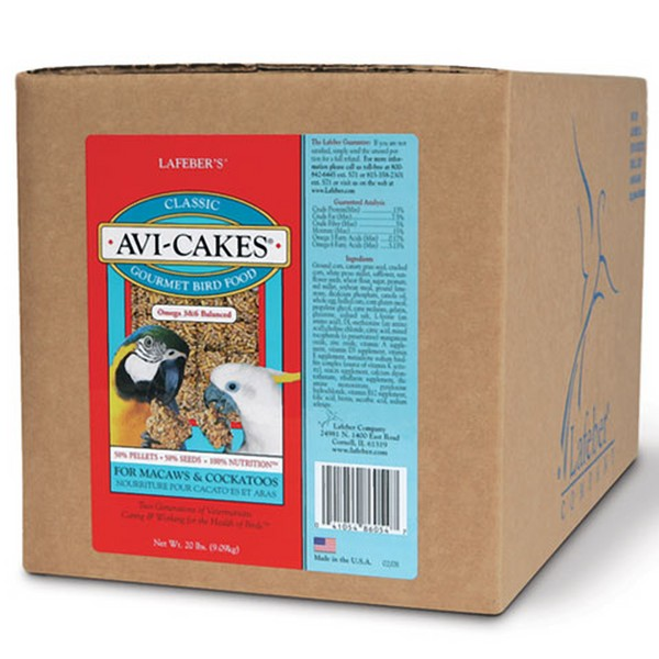 Lafebers Classic Avi-cakes For Macaw & Cockatoo 20 lb (9.09 Kg)
