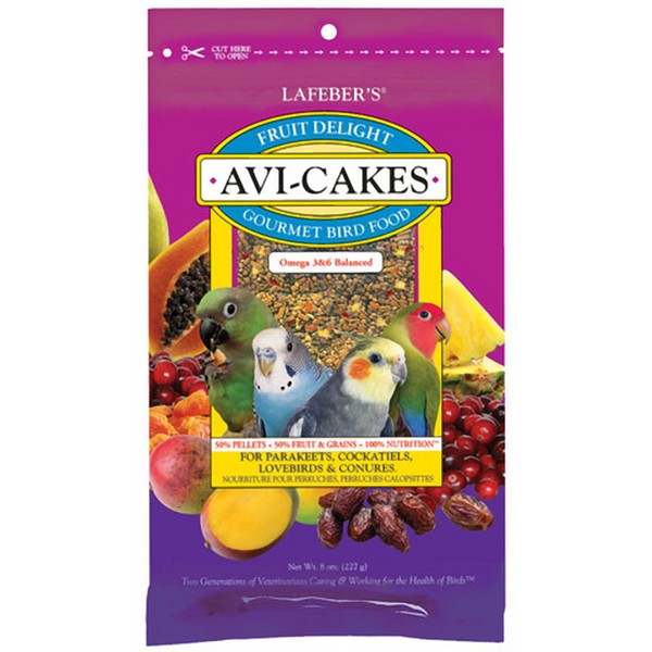 Lafebers Fruit Delight Avi-cakes Small Bird 8 oz (227 g)