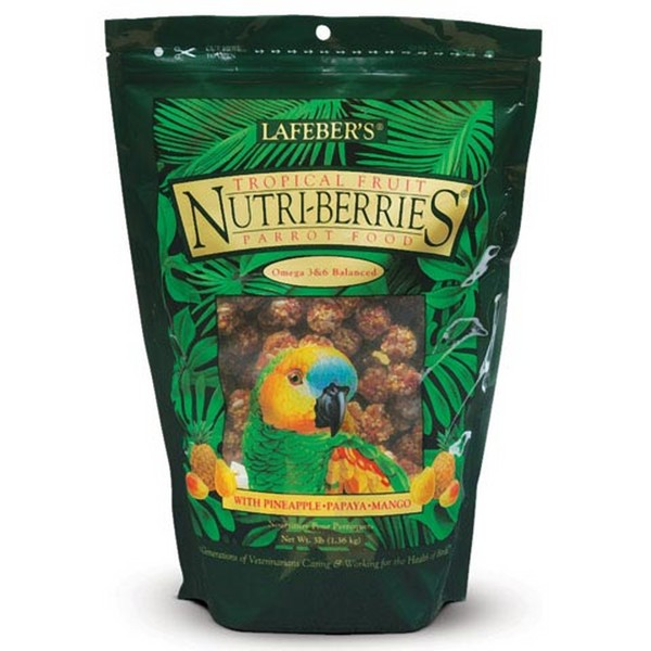 Lafebers Gourmet Tropical Fruit Nutri-berries Parrot 3 lb (1.36 kg)