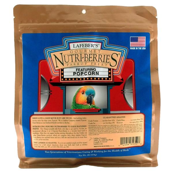 Lafebers Gourmet Popcorn Nutri-berries Parrot 16 oz (.45 kg)