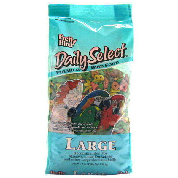 Pretty Bird Daily Select Large Parrot Bird Food Pellets 8 lb (3.6 kg)