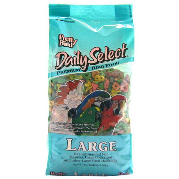 Pretty Bird Daily Select Large Parrot Bird Food Pellets 8 lb (3.6 kg)