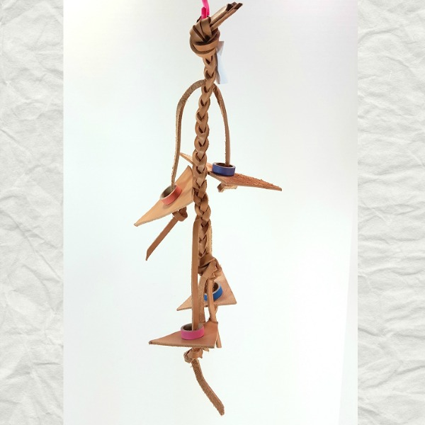 Leather Chew It Up Bird Toy - Braid