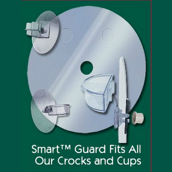 Smart Crock Locking Debris Guard for Dish or Bath