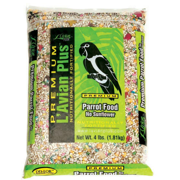 L'Avian Parrot Food Plus Premium Seed Mix No Sunflower 4 lb (1.81 Kg)