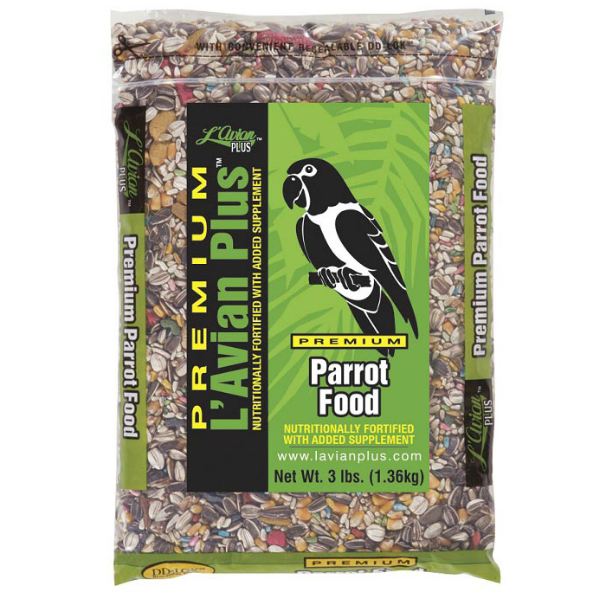 L'Avian Parrot Food Plus Premium Seed Mix 3 lb (1.35 Kg)