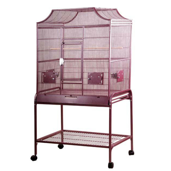Elegant Top Flight Cage for Smaller Birds by AE MA3221FL Burgundy