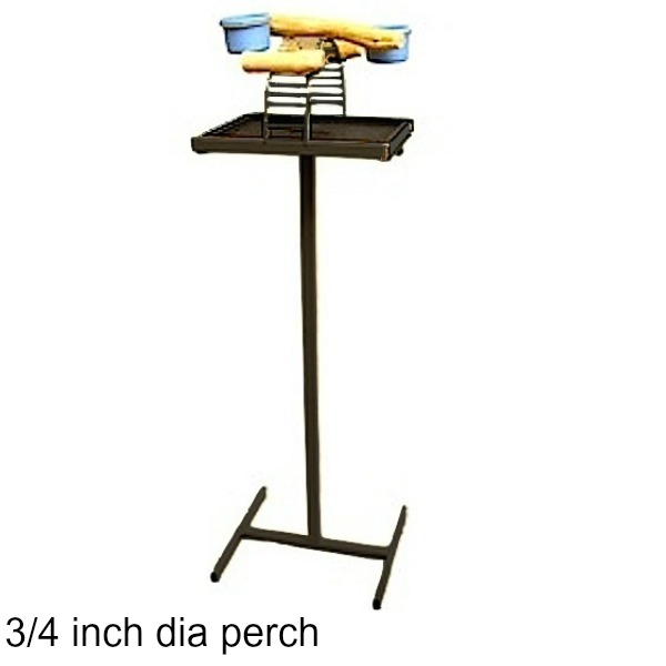 Hilltop Playtop Traveler Bird Stand Black w 3/4 inch Perch