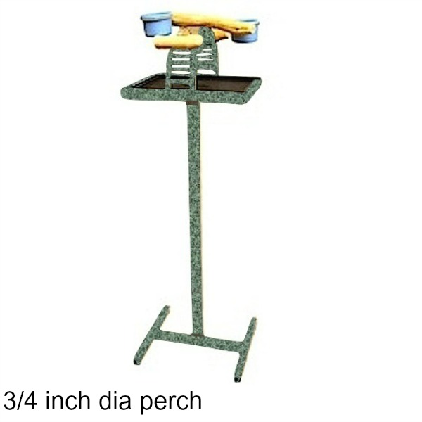 Hilltop Playtop Traveler Bird Stand Green w 3/4 inch Perch