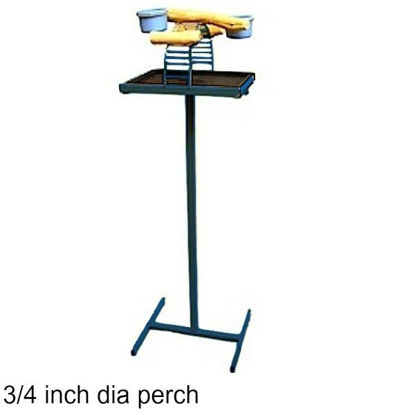 Hilltop Playtop Traveler Bird Stand Midnight Blue w 3/4 inch Perch