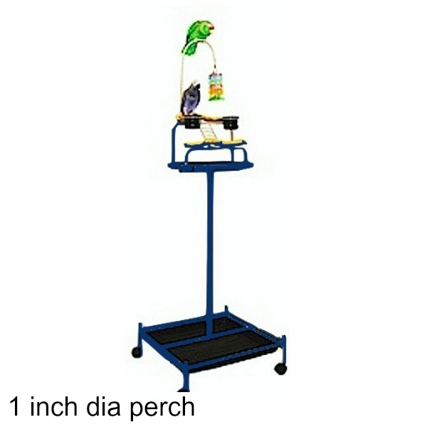 Power Tower Bird Stand Midnight Blue w 1 inch Perch