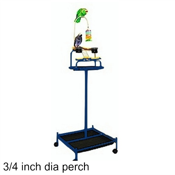Power Tower Bird Stand Midnight Blue w 3/4 inch Perch