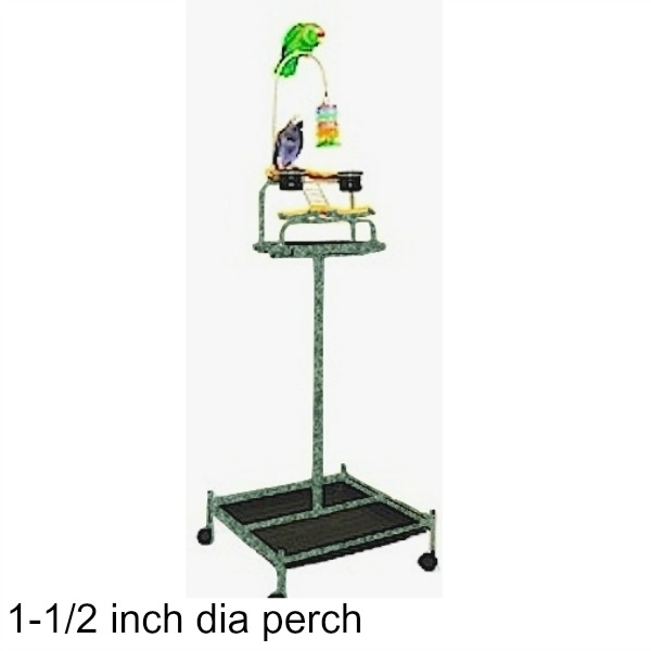 Power Tower Bird Stand Green w 1 1/2 inch Perch
