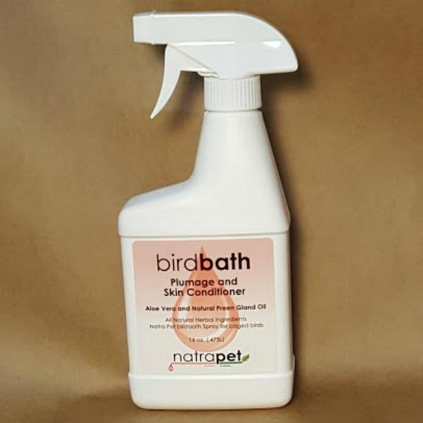 Natra Pet Bird Bath Spray Plumage and Skin Conditioner 16 oz (.47 l)