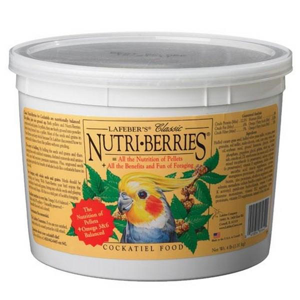 Lafebers Classic Cockatiel Nutri-berries 4 lb (1.81 Kg)
