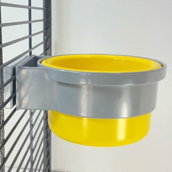Plastic Bird Cage Crock Screw on Holder 16 oz