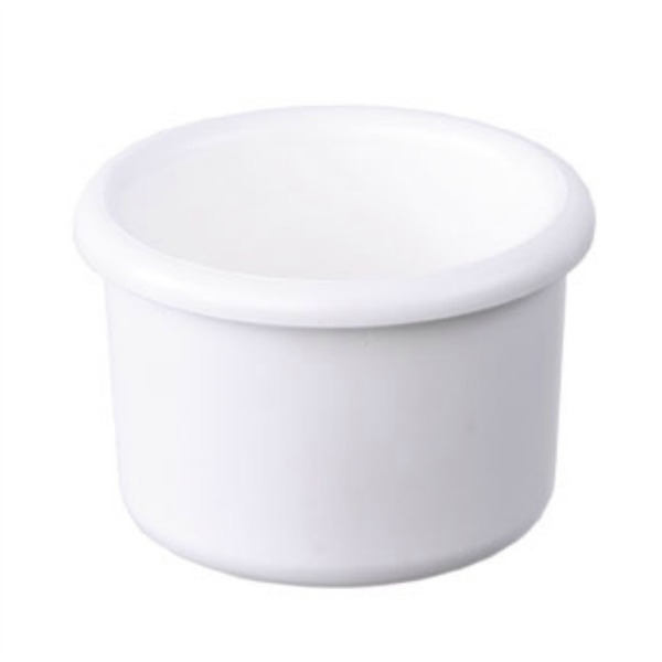 Plastic Bird Cage Crock 8 oz White