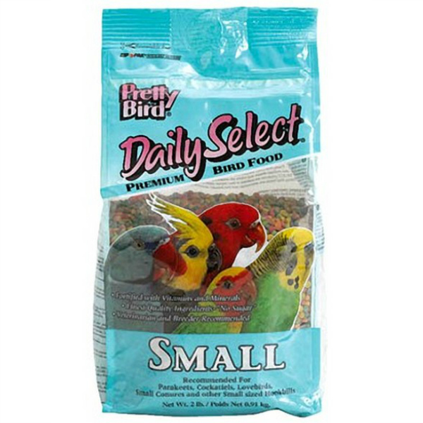 Pretty Bird Daily Select Small Parrot Bird Food Pellets 2 lb (.907 kg)
