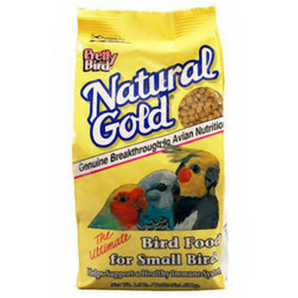 Pretty Bird Natural Gold Pellets For Small Birds 1.5 lb (.680 kg)