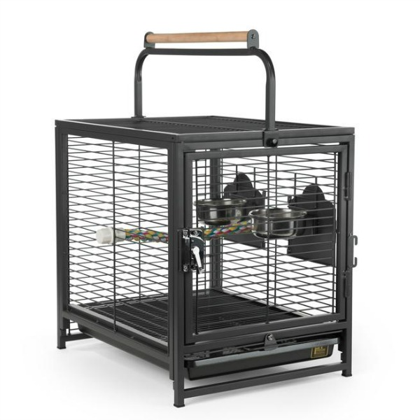 Wrought Iron Travel Carrier by Prevue 1307 for Medium Parrots