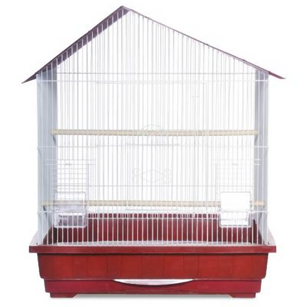 Offset Roof Small Bird Bird Cage by Prevue 25211 Red