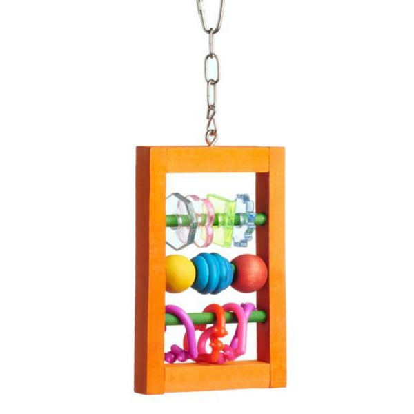 Bodacious Bird Toy for Small to Medium Parrots - Abacus