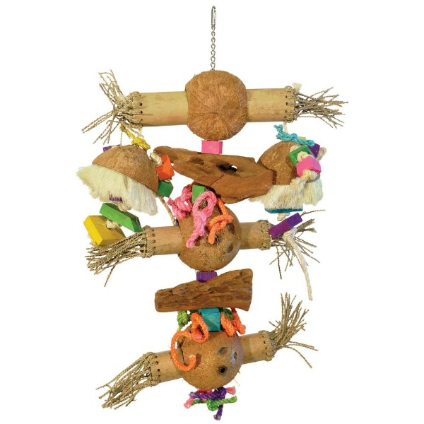 Bodacious Bird Toy for Large Parrots - Bamboo Shoots