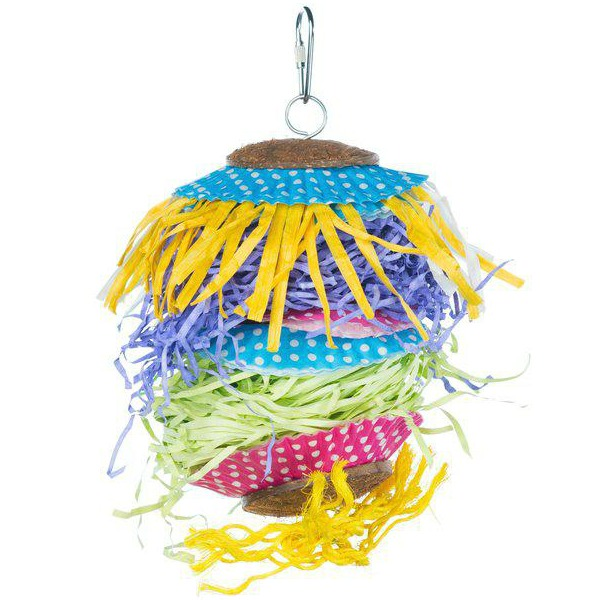 Prevue Calypso Creations Bird Toy for Medium Parrots - Barn Dance