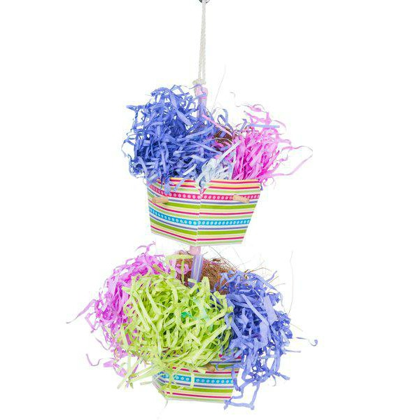 Prevue Calypso Creations Bird Toy for Small Parrots - Baskets of Bounty