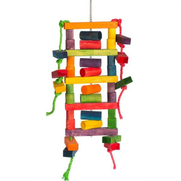 Bodacious Bites Bird Toy for Large Parrots - Blockhead