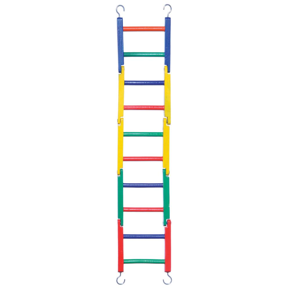 Ladder Flat Jointed Wooden Perch By Prevue Pet 10 Rung