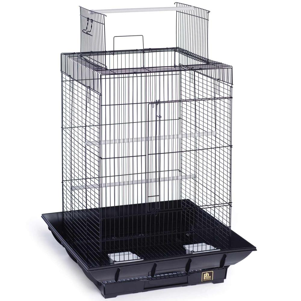 Clean Life Open Top Bird Cage for Small Birds 18x18 Black