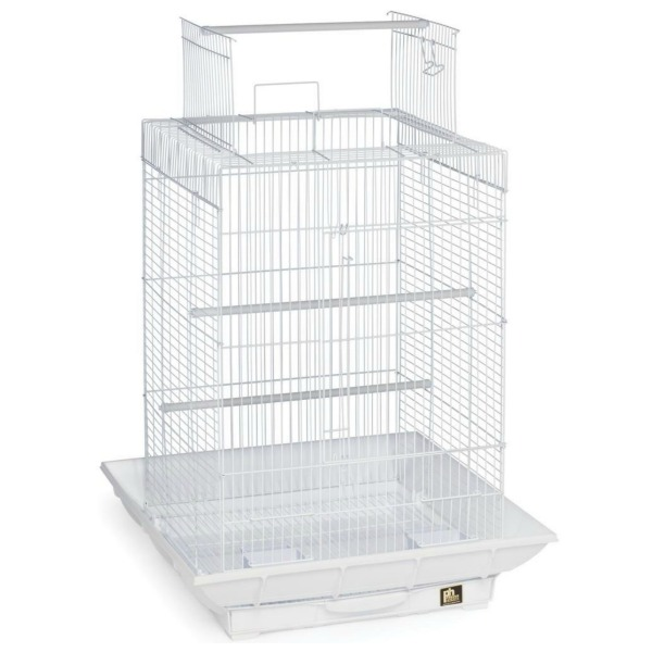 Clean Life Open Top Bird Cage for Small Birds 851 White