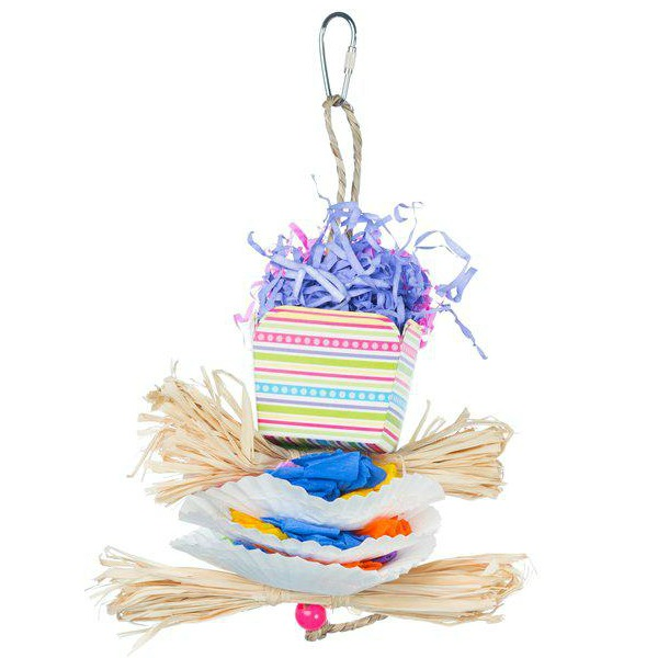 Prevue Calypso Creations Bird Toy for Small Parrots - Dessert Delights