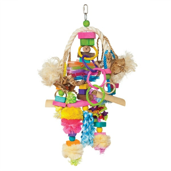 Bodacious Bird Toy for Medium to Large Parrots - Explosion