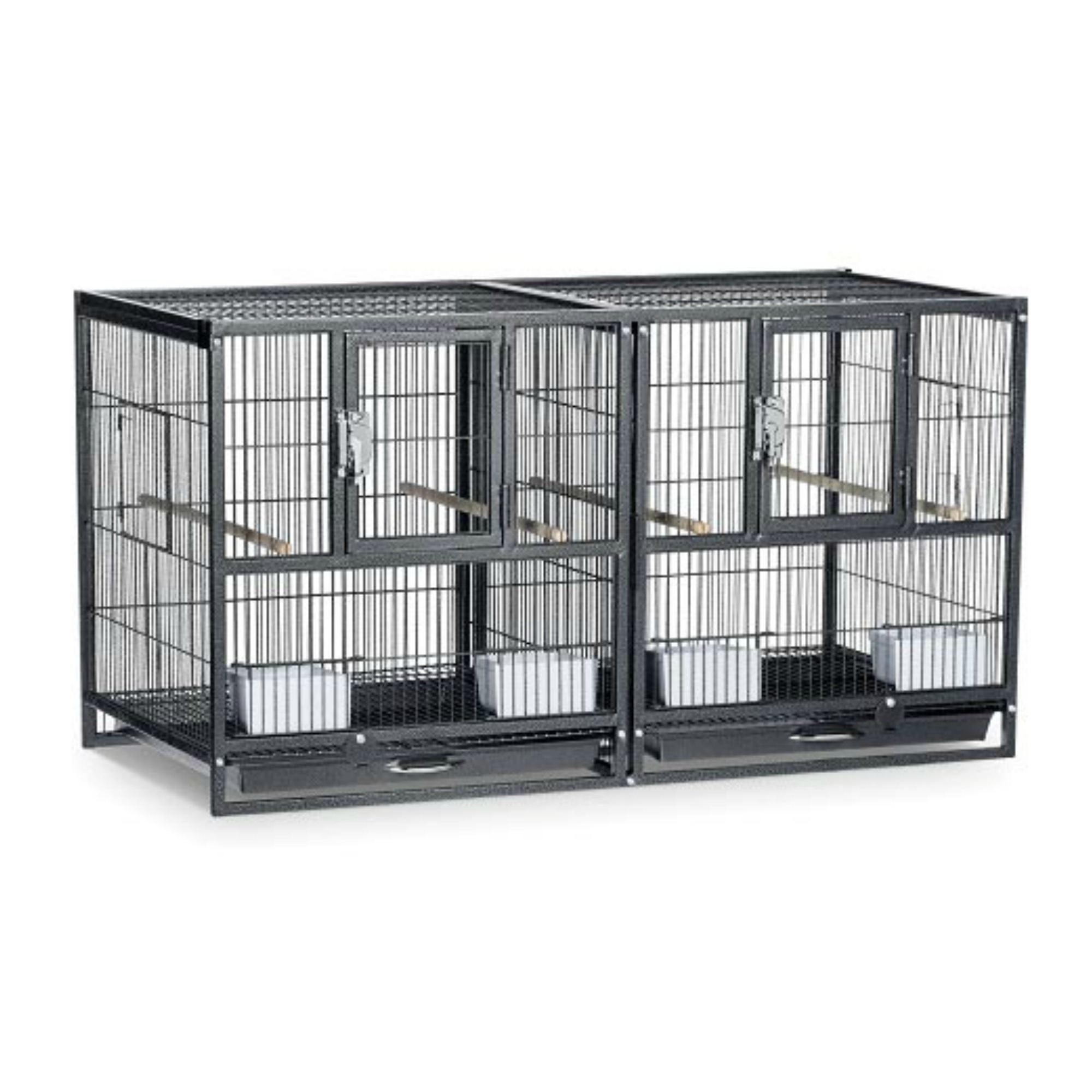 Breeder Cage The Hampton Deluxe Divided Breeder/flight Cage No Stand