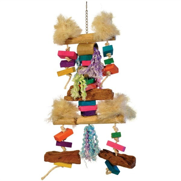 Bodacious Bites Bird Toy for Large Parrots - Fluff N Stuff
