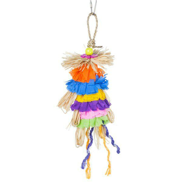 Prevue Calypso Creations Bird Toy for Small Parrots - Grassy Dance