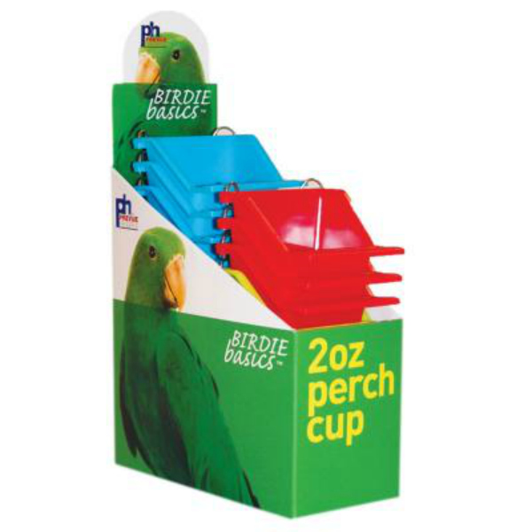 High Back Seed and Water Cup with Landing Perch 2 oz 12 pc box