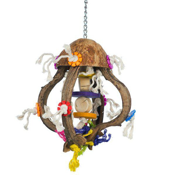 Calypso Creations Bird Toy for Medium Parrots - Jellyfish