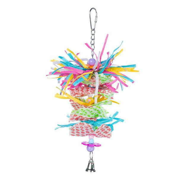 Prevue Calypso Creations Bird Toy for Small Parrots - Miami Frost