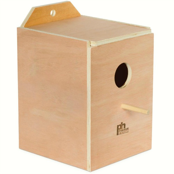 Nest Box Wood Parakeets Inside Cage Mount