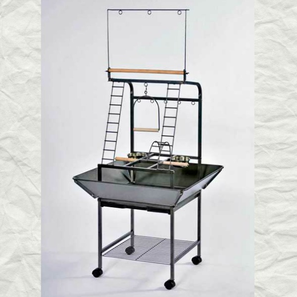 Bird Play Stand for Small Parrots by Prevue 3181 Black