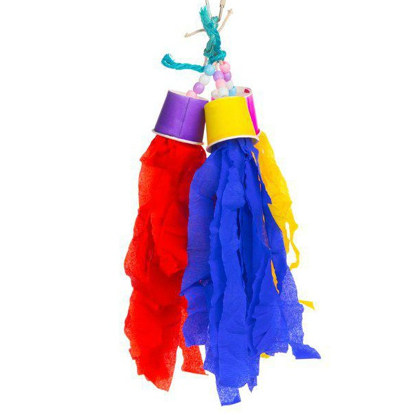 Prevue Calypso Creations Bird Toy for Small Parrots - Rocket Tails
