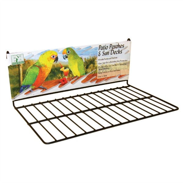 Flat Perch Sun Deck Landing Platform Birds Animals Large