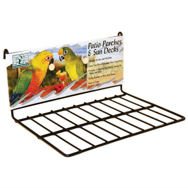Flat Perch Sun Deck Landing Platform Birds Animals Small